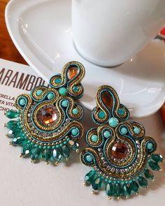 Soutache Earrings, Shibori, Bangles, Beads, Love Live, Handmade, Creativity, Interior, Inspiration