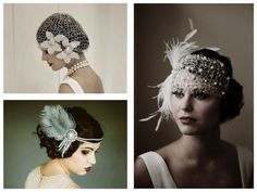 Coiffures années 20 Gatsby Look, Party Like Gatsby, Gatsby Style, Gatsby Wedding, Wedding Hats, 1920s Style, Fashion Moda, Look Fashion, Diy Fashion
