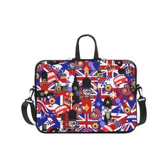 "Juleez Print Laptop Case London Flag Brit Sugar Skull Laptop Handbags 17"".Print Laptop Case London Flag Brit Sugar Skull"