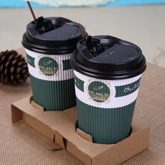 Check out this product on Alibaba.com APP 500ml 16oz disposable ripple paper cup for coffee