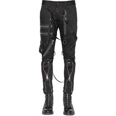 Dsquared2 Men 15cm Parachute Multi Zip Stretch Jeans (28.650 CZK) ❤ liked on Polyvore featuring men's fashion, men's clothing, men's jeans, black, mens stretchy jeans, mens super skinny stretch jeans, mens stretch jeans and mens jeans
