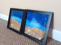 Home Decor Set. Shadow Picture Frame. Beach Frame Set. Sea Shell Wall Decor. Beach House Decor. Summer Decor. on Etsy, $59.99