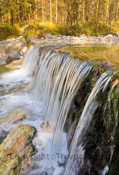 Goldenes Licht spielt mit dem Wasser Waterfall, Photography, Outdoor, River, Water, Outdoors, Photograph, Fotografie, Waterfalls