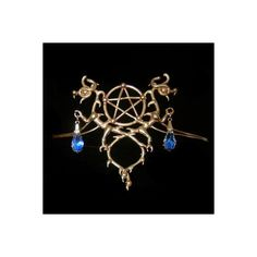 Bronze circlet with a pentagram ❤ liked on Polyvore featuring jewelry