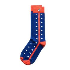 Royal Blue, Orange & White Socks in alligator / gator pattern. University of Florida from Boldfoot Socks. We're proud to say that our socks are 100% American-made and sourced. The cotton is grown here and the socks are sewn here. Made in Philadelphia | USA boldfoot.com allnewamerican.com