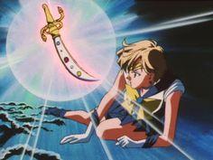 セーラーウラヌス / 天王はるか Sailor Uranus / Haruka Tenoh with Space Sword - Sailor Moon screencaps