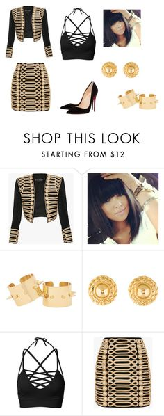 """""""Powerful women 2/3"""" by alexiawilliams-1 ❤ liked on Polyvore featuring Balmain, Givenchy and Christian Louboutin"""