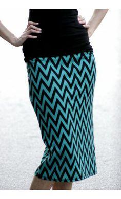 Womens chevron print mid-length pencil skirt - Apostolic Clothing #modest #skirts