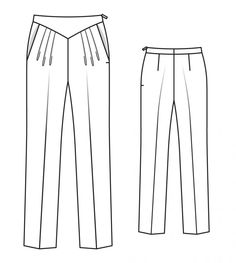 Image result for Burda trousers #110 4/2014