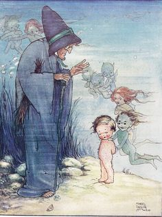✯ Water Babies :: Mabel Lucie Attwell -1920- ✯  I'll never forget crying after I read this story, because I wanted to BE a Water Baby...