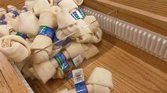 Custom Wood Gondola with Acrylic Dividers for Dog Bone Display