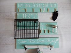 The ULTIMATE Laundry Room Decor Combo....Missing Socks,Change jar, Lint Collector, Ironing Board Holder.HAVENSPLACE by Havensplace on Etsy https://www.etsy.com/listing/236063600/the-ultimate-laundry-room-decor