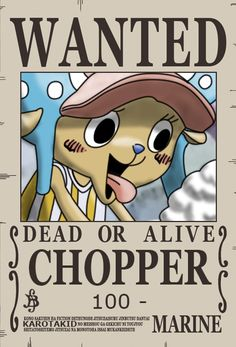 Chopper Dressrosa Wanted Poster