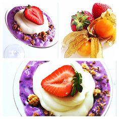 Nyttig & enkel blåbärscheesecake