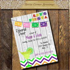 Uno Papel Picado invitation Mexican FIESTA by GooseCornerGreetings