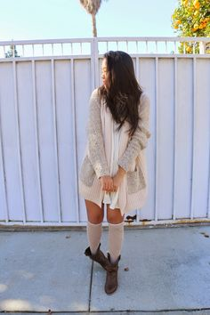 Shirley of the Youtube channel classiefiedcloset is wearing the Warming Up sweater from #FevrieFashion