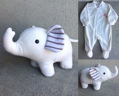 Best 12 Save your babys favourite sleepers, coming-home outfit or blanket forever by having them made into a one of a kind keepsake teddy bear! I can make a keepsake bear from something as small as a newborn sized sleeper, though I may need to supplement Memory Crafts, Baby Crafts, Baby First Outfit, Elephant Stuffed Animal, Stuffed Animals, Baby Sleepers, Baby Memories, Baby Keepsake, Memory Pillows