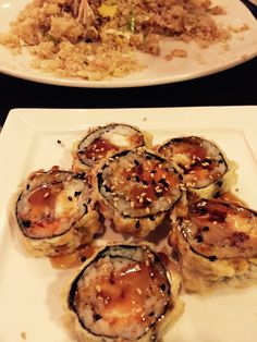 Dinner last night. #sushi #TNTRoll #saturday
