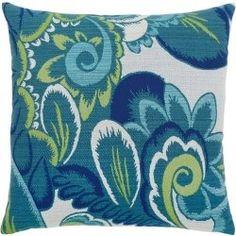 Floral Wave Sunbrella® Outdoor Pillows