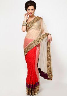 Designer Saree Of Banarsi Zari Silk