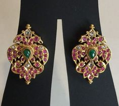 Prodigious Cool Tips: Jewelry Packaging Velvet funky jewelry unique. Indian Jewelry Earrings, Funky Jewelry, India Jewelry, Dainty Jewelry, Antique Earrings, Antique Jewelry, Gold Jewelry, Wedding Jewelry, Shell Jewelry