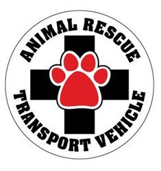 Pet Lover Magnets. Animal Rescue Transport Vehicle Circle Magnets on Etsy, $4.99
