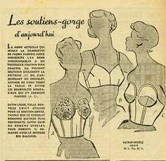 1950s French lingerie ad #softpairsinspiration #frenchlingerie
