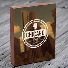 Chicago Art  Retro Insignia  Vintage Seal  Wood Block by LuciusArt, $39.00