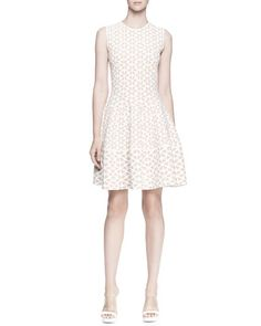 Off white floral flouncy dress by McQueen