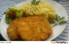 Celerové karbanátky se šunkou a sýrem Mashed Potatoes, Macaroni And Cheese, Meat, Chicken, Ethnic Recipes, Fitness, Dinner Ideas, Cooking, Whipped Potatoes