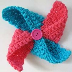 #Crochet this pinwheel and see if it blows in the wind. Or you can add it to a headband.