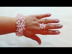 Diy Beaded Rings, Beaded Jewelry, Handmade Jewelry, Beaded Bracelets, Seed Bead Patterns, Beading Patterns, Bracelet Making, Jewelry Making, Ruffle Beading