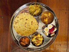 Vegetable Thali at Pondicheri (Houston, TX). #UniqueEats