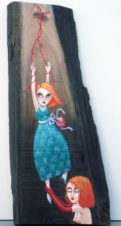I'll Fly Away - acrilic and collage on wood - 2011