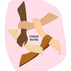 Stronger Together, Feminism, Intersectionality, Women Feminist Quotes, Feminist Art, Feminist Apparel, Refugees, Intersectional Feminism, Patriarchy, Riot Grrrl, Girls Be Like, Powerful Women