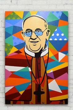 EU AMO ESSE ARGENTINO!O papa e pop art Gil Motta
