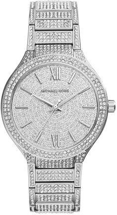 Michael Kors Kerry Silver Stainless Steel Pave Watch