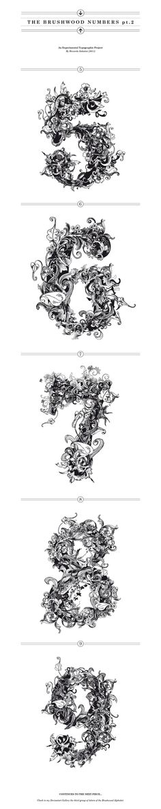 THE BRUSHWOOD NUMBERS pt.II by RichardTheRough.deviantart.com on @deviantART