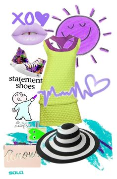 """""""Statement Shoes"""" by prettyroses ❤ liked on Polyvore featuring Comme des Garçons, BCBGMAXAZRIA and Lime Crime"""