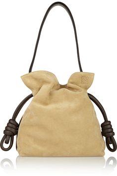 Loewe|Flamenco Knot small suede shoulder bag|NET-A-PORTER.COM