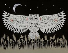 cut paper art prints by Angie Pickman, Rural Pearl (Kansas)