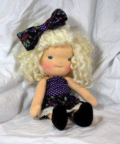 Instant Download PDF Waldorf Doll PDF Tutorial and Pattern For Making a Soft-Jointed Waldorf Doll with Organic Locks Hair