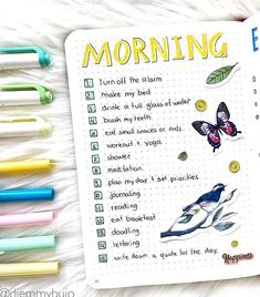 bujo morning routine If you've been thinking about starting a bullet journal for mental health or to help you manage anxiety, here's a list of ideas you can use to get started. Lately some therapists have even been . Bullet Journal Mental Health, Self Care Bullet Journal, Bullet Journal Notebook, Journaling For Mental Health, Bullet Journals, Journal Layout, Journal Prompts, Journal Pages, Goal Journal
