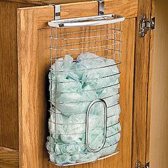 Over The Cabinet Bag Holder @ Improvements and Whatever Works