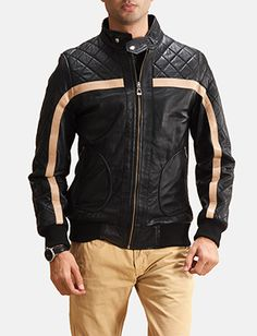 Mens Sven Black Leather Bomber Jacket Black Leather Bomber Jacket, Bomber Jacket Men, Sweater Jacket, Motorcycle Jacket, Men Sweater, Bike Suit, Collar Styles, Real Leather, Womens Fashion