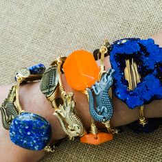 Perfect Bourbon and Boweties bangle stack for Florida Gators fans! Free shipping at www.twocumberland.com