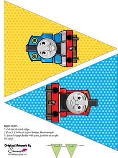 Thomas Tank Printable Party Banner Party Decorations