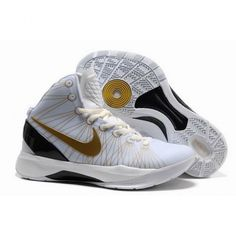 Particular Nike Zoom Hyperdunk Elite Men Basketball Shoes White/Gold/Black 1003 $52.00 http://www.wholesalesneakersmart.com