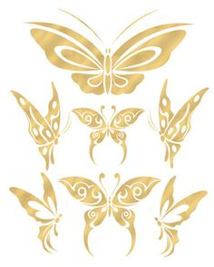 Butterfly Gold Tattoos
