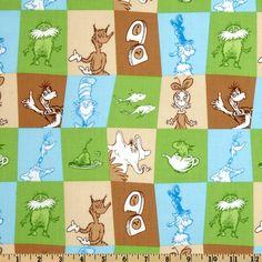 Kaufman Celebrate Seuss 2 Patchwork Adventure Fabric By The Yard
